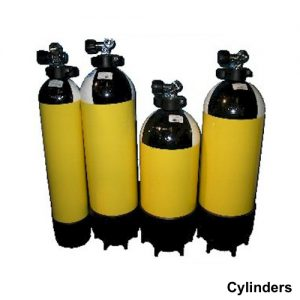 Cylinders diving yellow